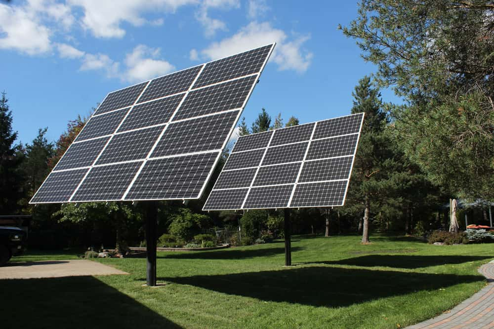 MT Solar Pole-Mounted Solar Panels - Backyard After - Buffalo Solar Solutions