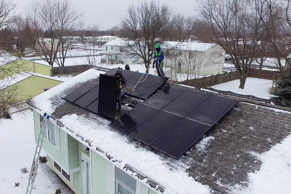 Winter Solar Installation - Buffalo Rising - Buffalo Solar Solutions