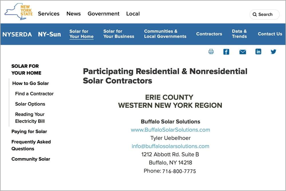 NYSERDA - Buffalo Solar Blog - Buffalo Solar Solutions - Buffalo, NY